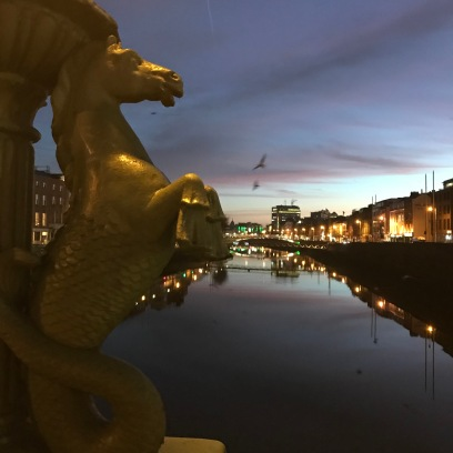 The River Liffey, featuring Cliff the seahorse. 7:52am